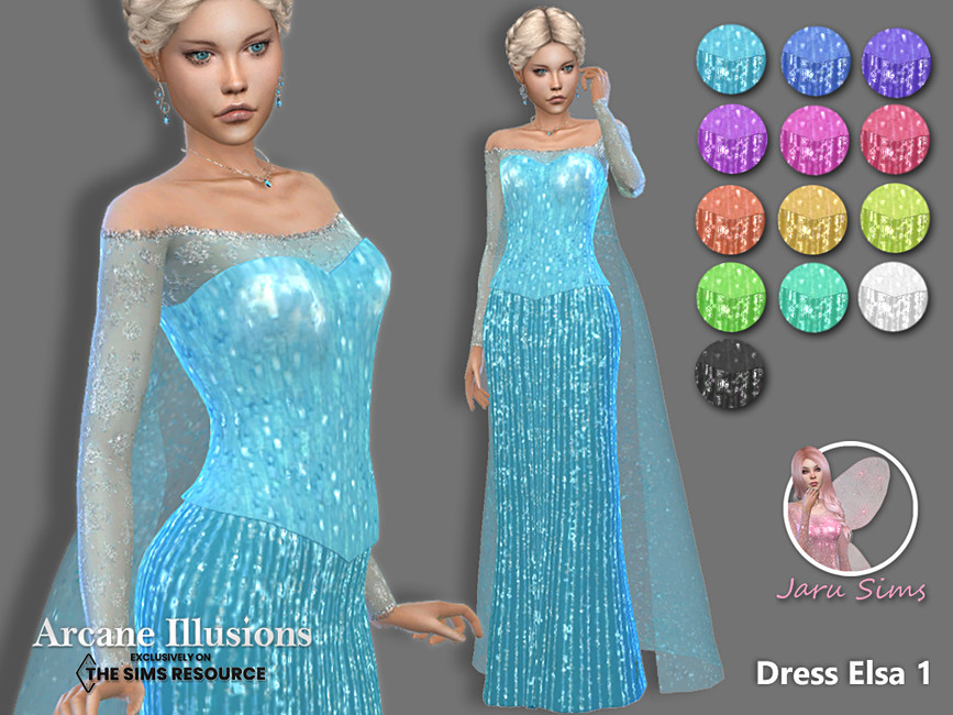 Платье Dress Elsa1 Симс 4