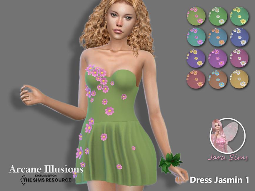 Платье Dress Jasmin 1 Симс 4