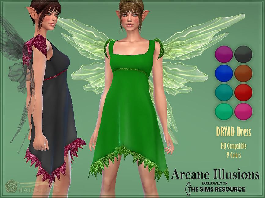 Платье Dryad Dress Симс 4