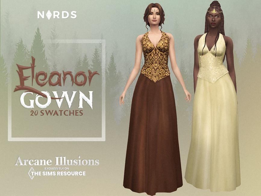 Платье Eleanor Gown Симс 4
