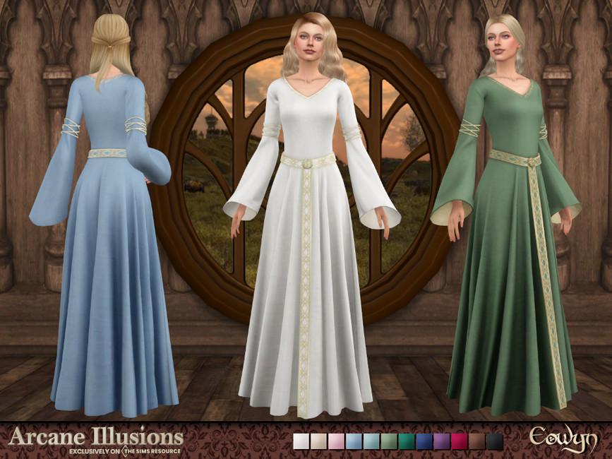 Платье Eowyn Dress Симс 4
