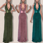 Платье Goddess Gown III (The Velvet Edition) Симс 4