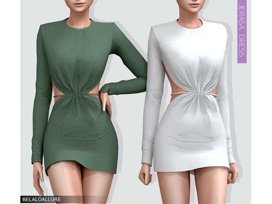 Платье Jerasa Dress Симс 4