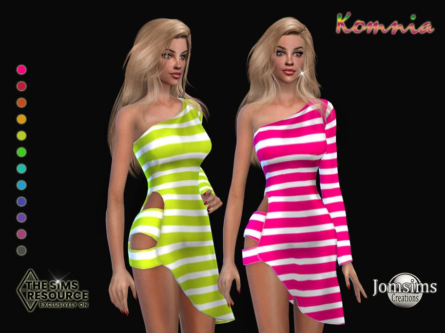 Платье Komnia Dress Симс 4