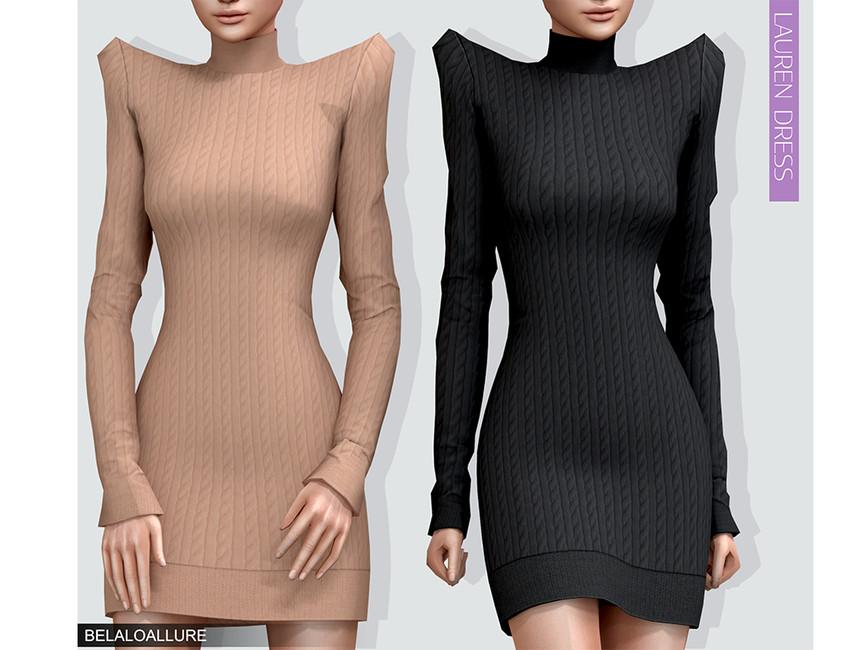 Платье Lauren Dress Симс 4