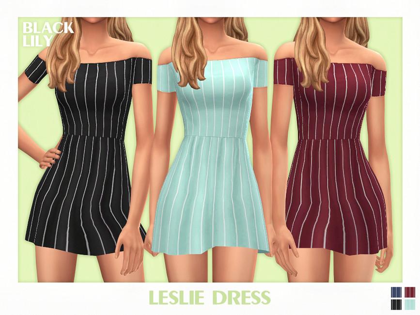 Платье Leslie Dress Симс 4