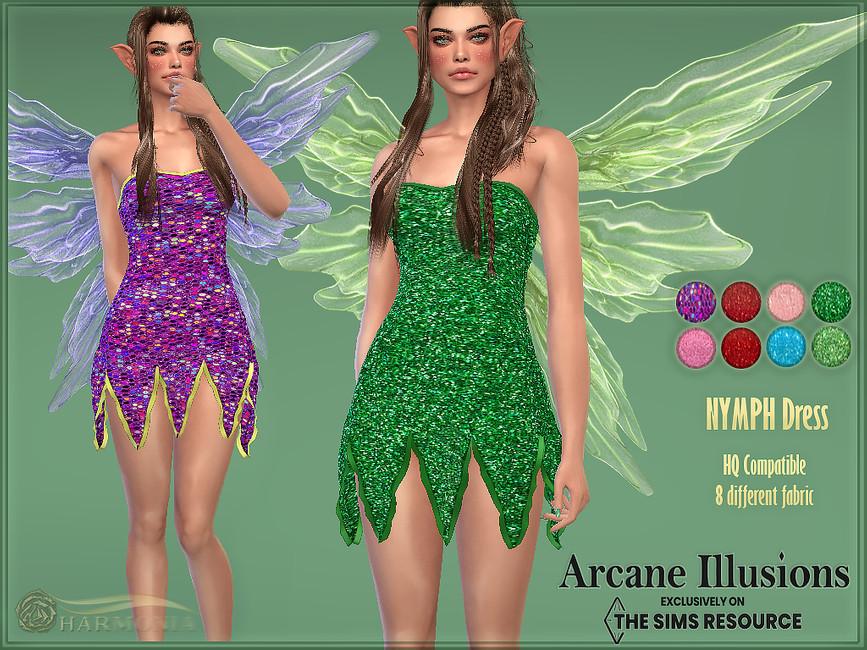 Платье Nymph Dress Симс 4