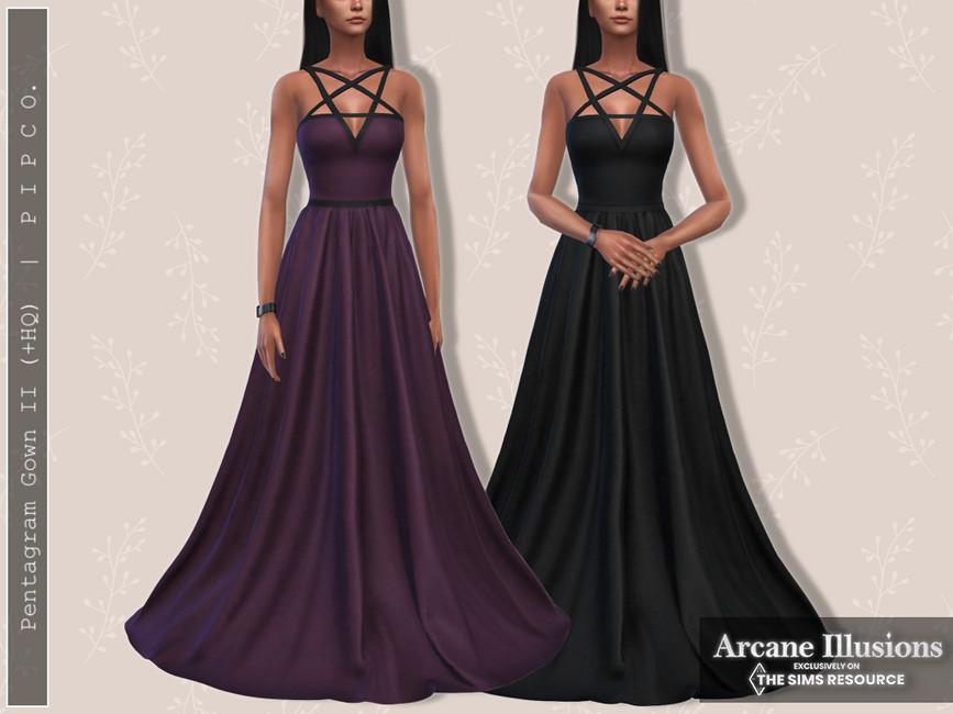 Платье Pentagram Gown II Симс 4