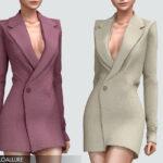 Платье пиджак Gia Blazer Dress Симс 4