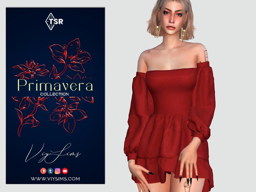 Платье PRIMAVERA Collection - DRESS (I) Симс 4