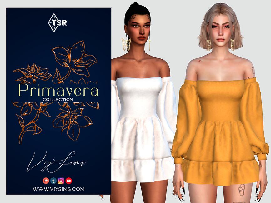 Платье PRIMAVERA Collection - DRESS (I) Симс 4 (картинка 2)