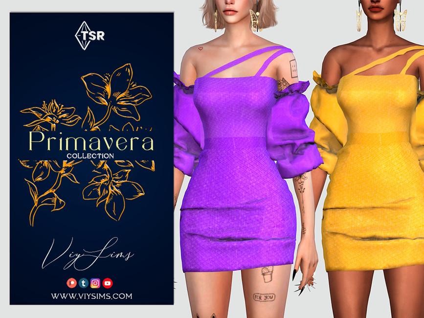 Платье PRIMAVERA Collection - DRESS Симс 4
