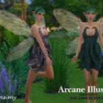 Платье Short Fairy Dress Симс 4