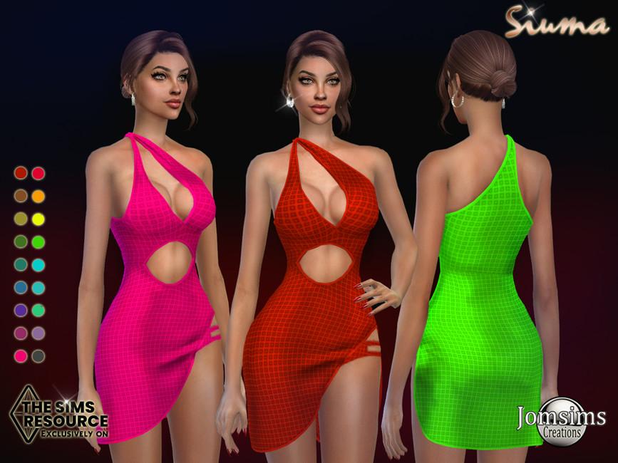 Платье Siuama Dress Симс 4
