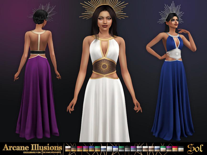Платье Sol Dress Симс 4