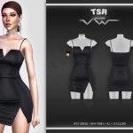 Платье SPLIT DRESS BD549 Симс 4