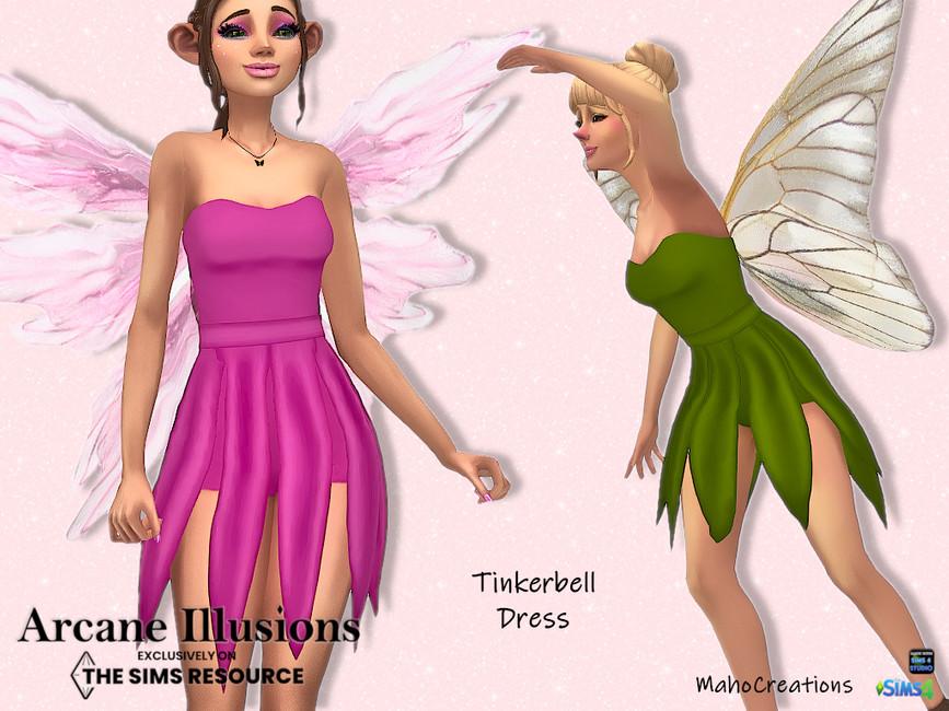 Платье Tinkerbell Dress Симс 4