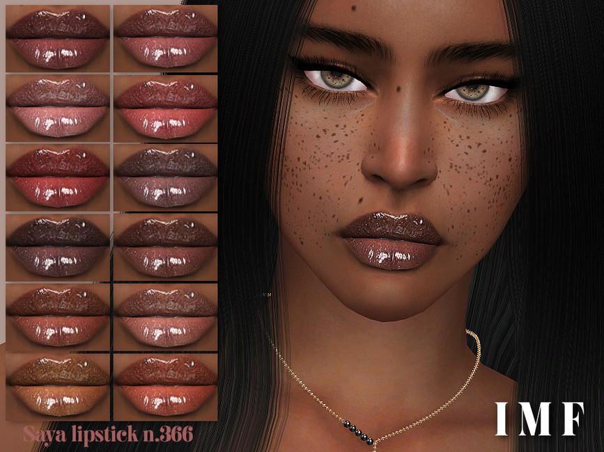 Помада для губ IMF Saya Lipstick N366 Симс 4