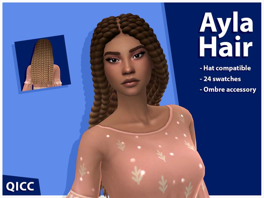 Прическа Ayla Hair Set Симс 4