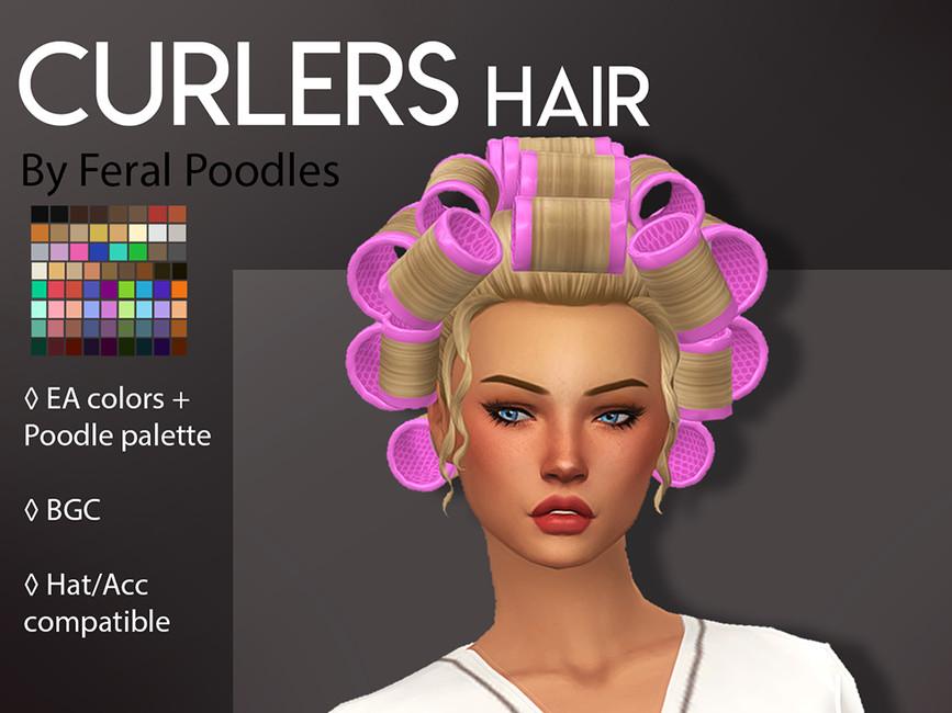 Прическа Curlers Hair Симс 4