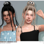 Прическа для детей Webber Hairstyle Set Симс 4