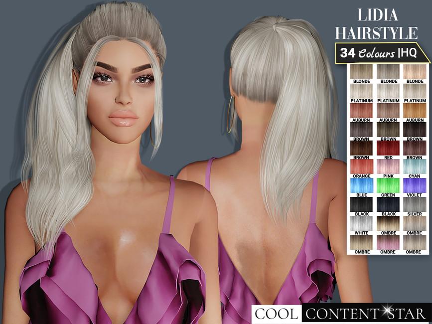 Прическа Hairstyle 12 - Lidia tail Симс 4 (картинка 2)