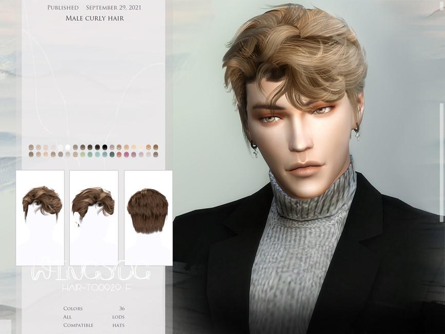 Прическа Male Curly Hair Симс 4