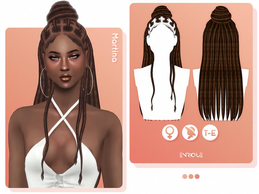 Прическа Martina Hairstyle Симс 4