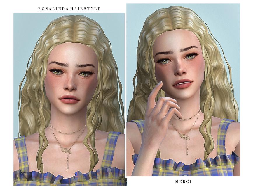Прическа Rosalinda Hairstyle Симс 4