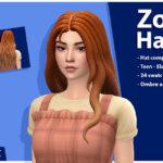 Прическа Zoe Hair Set Симс 4