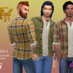 Рубашка Fall21 Layered 4 Симс 4