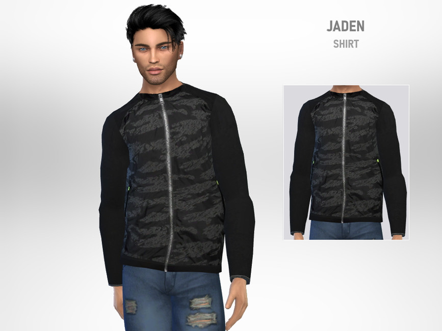 Рубашка Jaden Shirt Симс 4