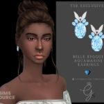 Сережки Belle Epoque Aquamarine Earrings Симс 4