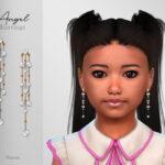 Сережки для детей Angel Earrings Child Симс 4