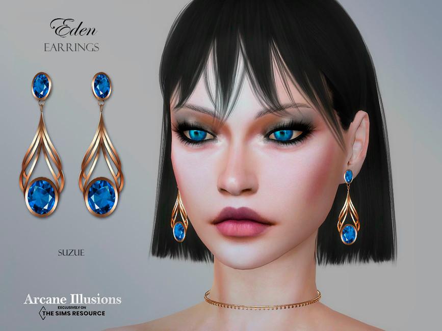 Серьги Arcane Illusions Eden Earrings Симс 4
