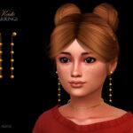 Серьги для детей Kade Earrings Child Симс 4