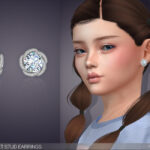 Серьги для детей Margaret Stud Earrings For Kids Симс 4