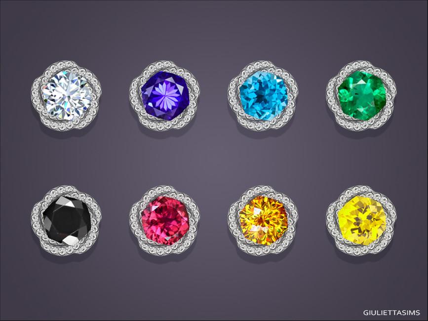 Серьги для детей Margaret Stud Earrings For Kids Симс 4 (картинка 2)