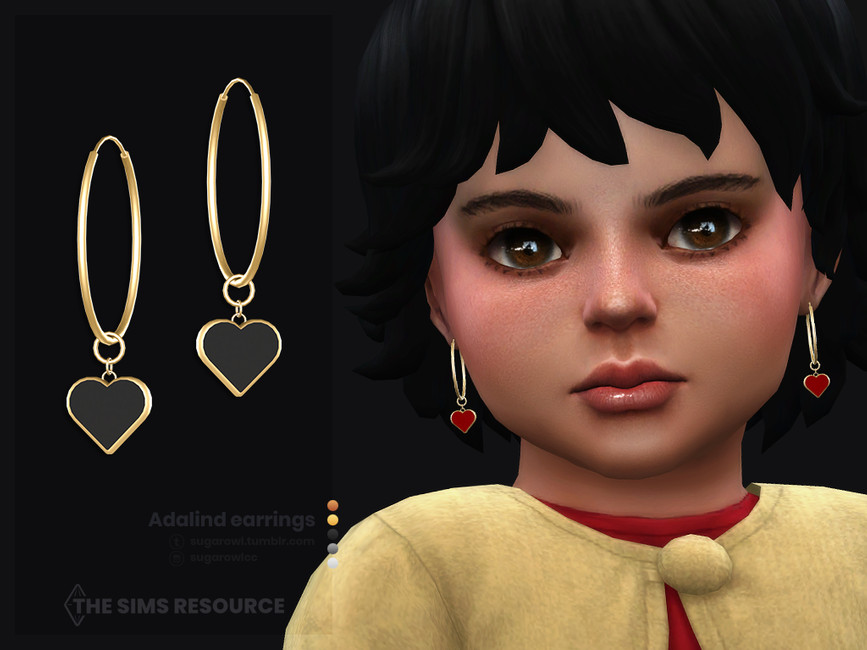 Серьги для малышей Adalind Earrings For Toddlers Симс 4