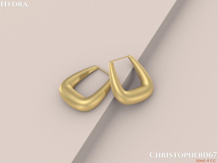 Серьги Hydra Earrings Симс 4 (картинка 3)