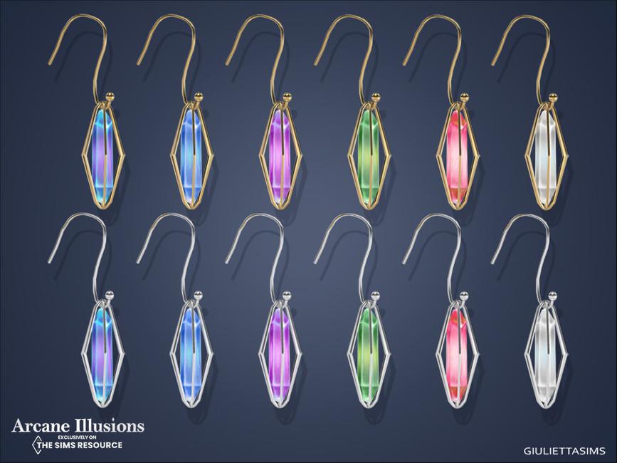 Серьги Magical Caged Crystal Earrings Симс 4 (картинка 2)
