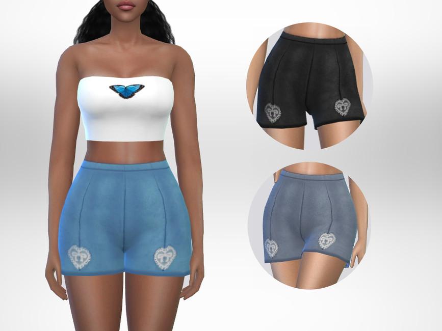 Шорты Joseline Shorts Симс 4
