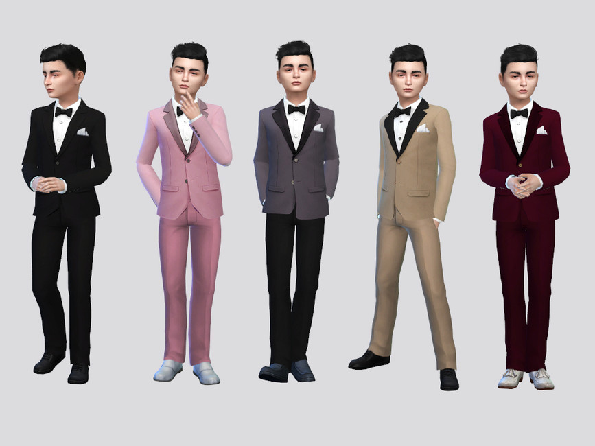 Смокинг Francesco Tuxedo Suit Симс 4