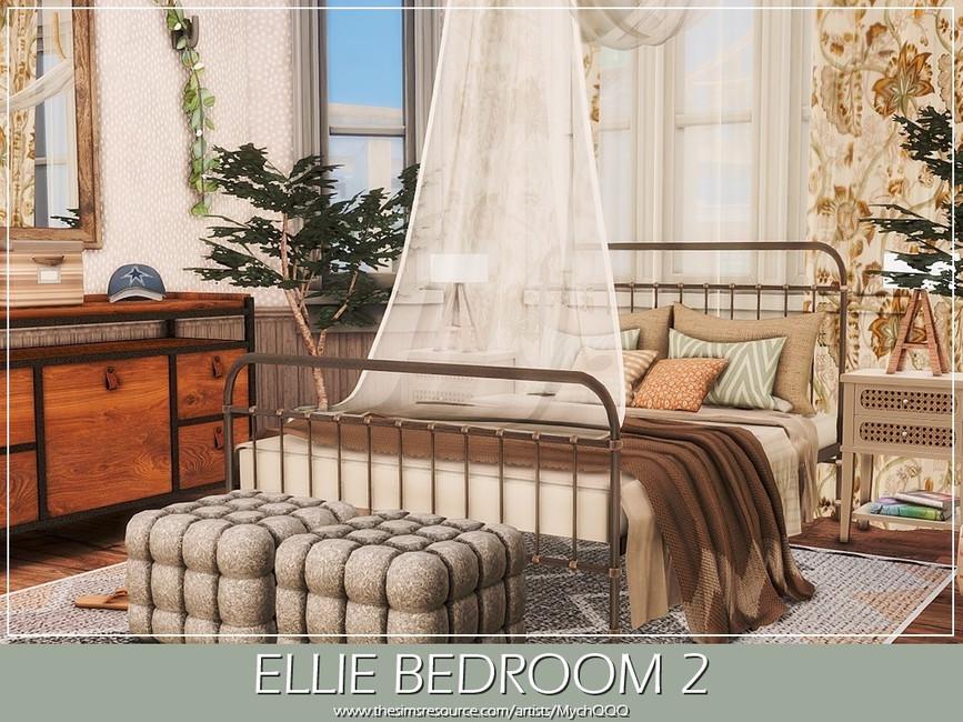 Спальня Ellie Bedroom 2 Симс 4