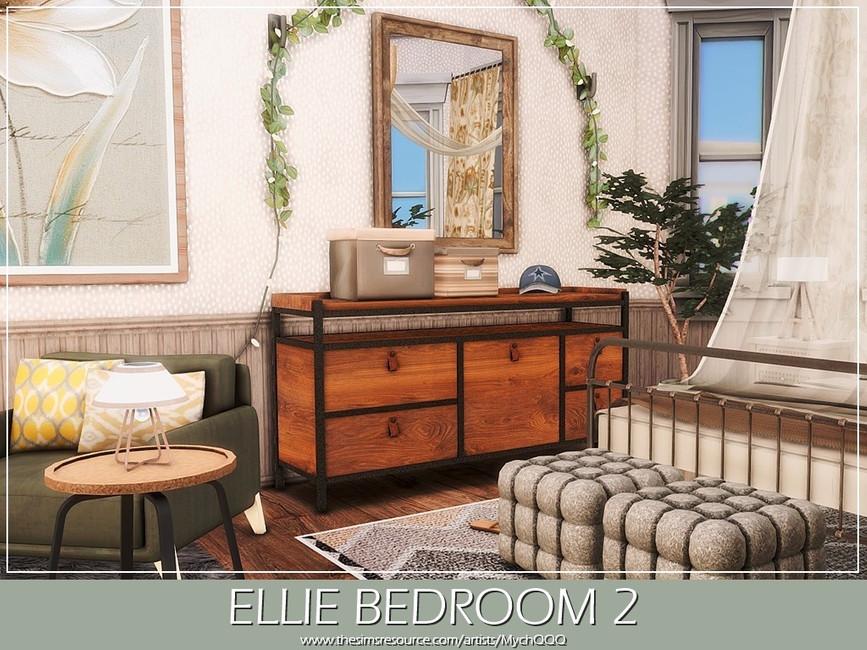 Спальня Ellie Bedroom 2 Симс 4 (картинка 2)
