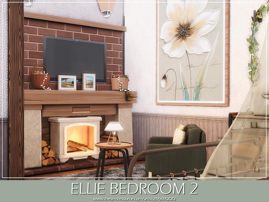 Спальня Ellie Bedroom 2 Симс 4 (картинка 3)