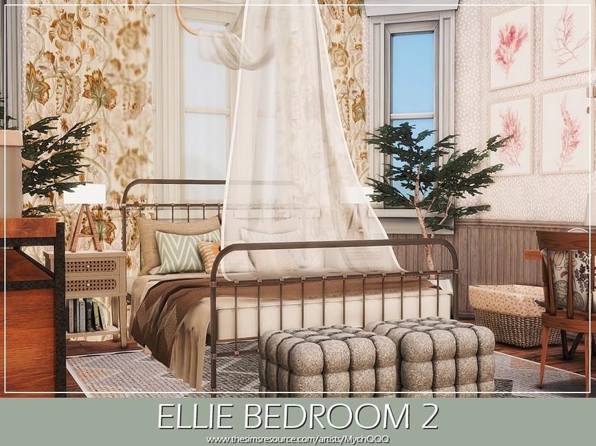 Спальня Ellie Bedroom 2 Симс 4 (картинка 4)