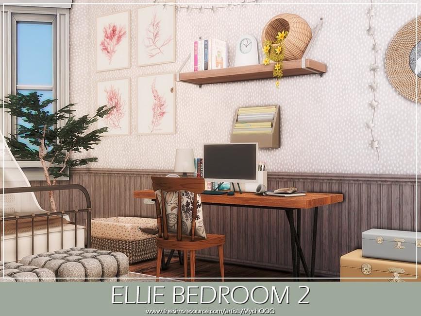 Спальня Ellie Bedroom 2 Симс 4 (картинка 5)