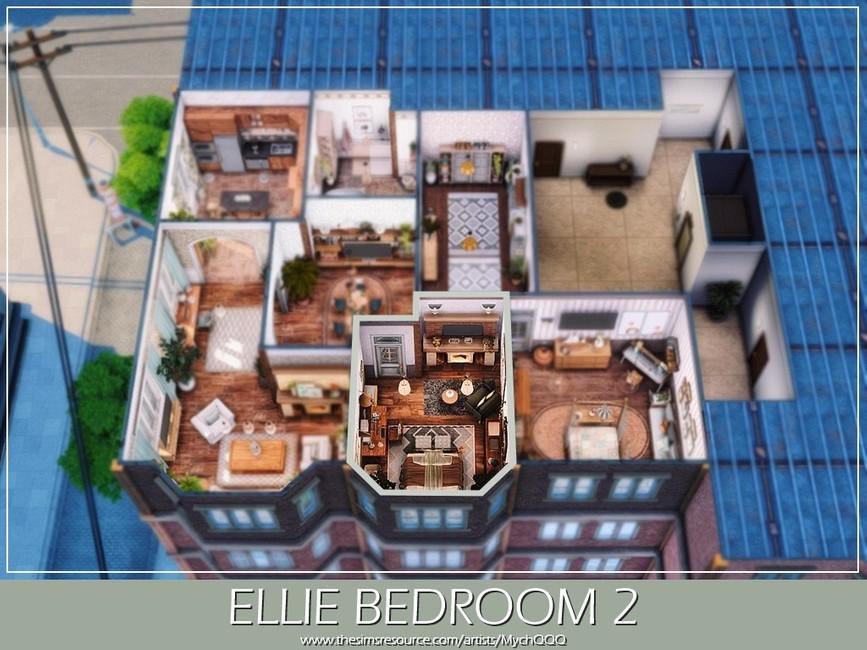 Спальня Ellie Bedroom 2 Симс 4 (картинка 6)