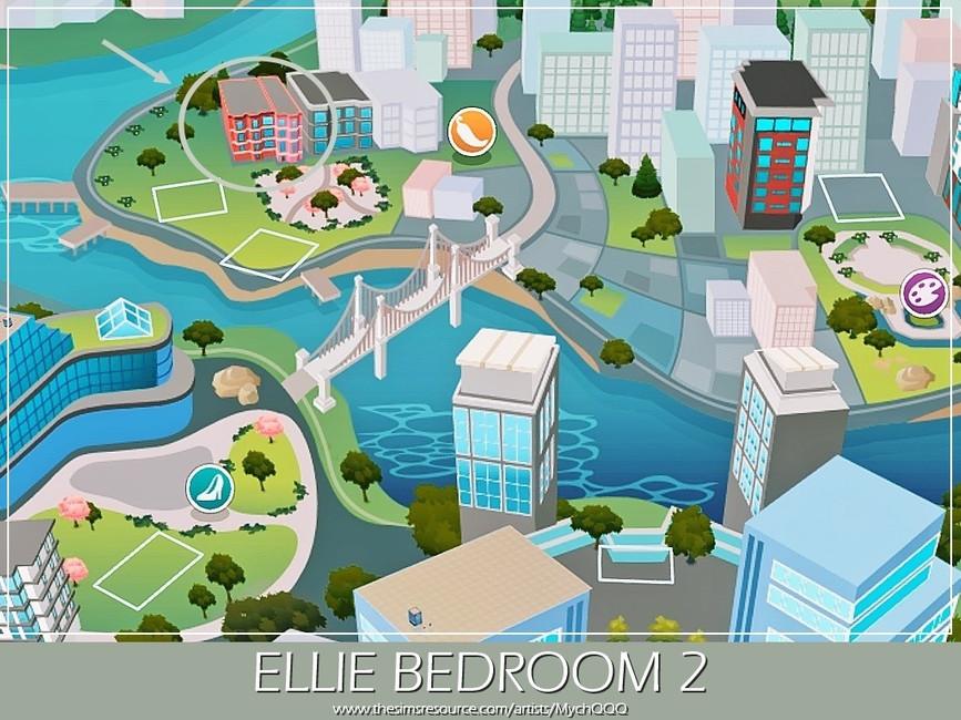 Спальня Ellie Bedroom 2 Симс 4 (картинка 7)